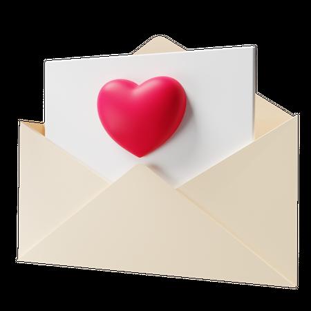 Love Letter 3D Illustration