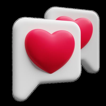 Love messages 3D Illustration