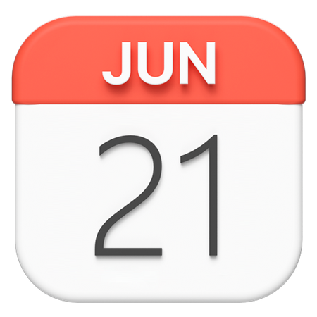 Macos Calendar 3D Illustration
