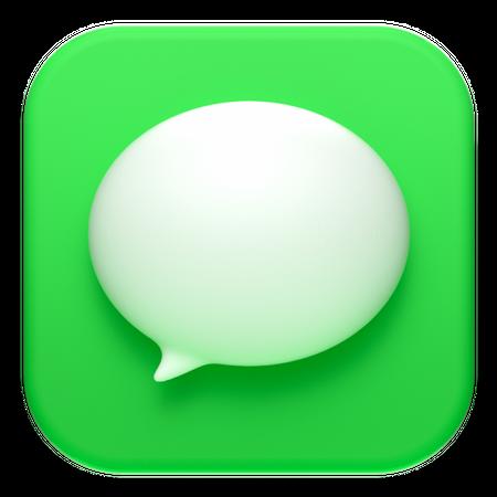 MacOs Messages 3D Illustration