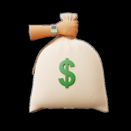Money Sack 3D Illustration