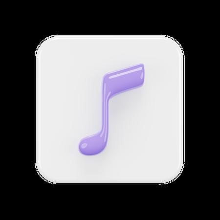 Music App 3D Illustration