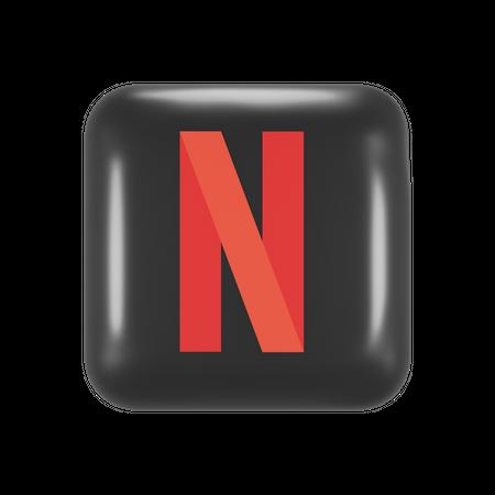 Netflix 3D Illustration