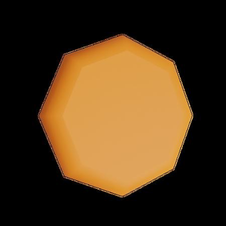 Octagram Solid 3D Illustration