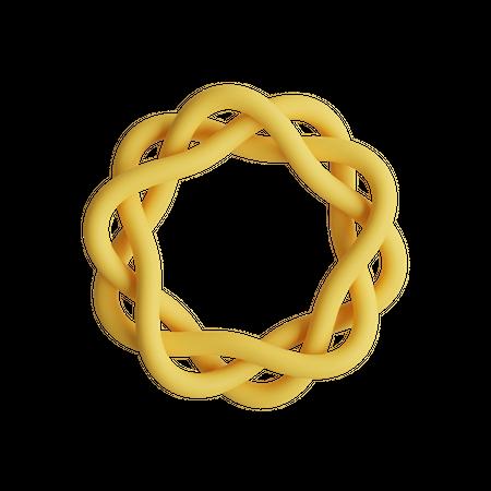 Poly-twist knots 3D Illustration