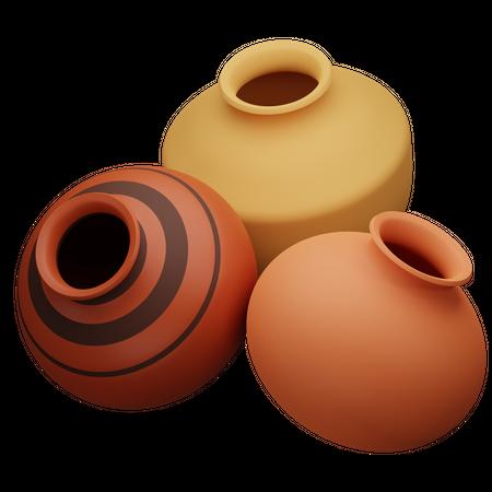 Pot 3D Illustration