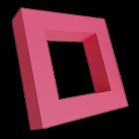 Quadrilateral 3D Illustration