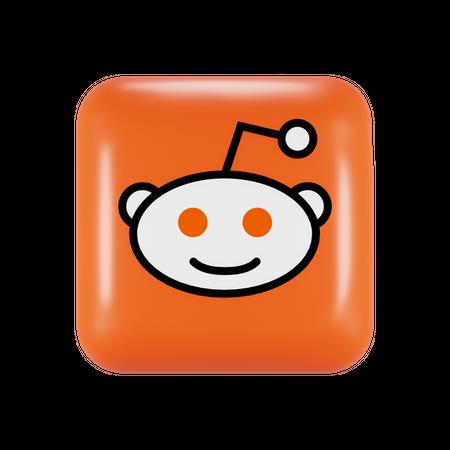 Reddit 3D Illustration