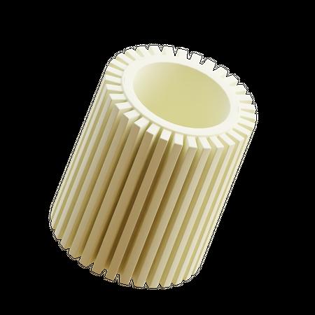 Ribbed Cylinder Min 3D Illustration