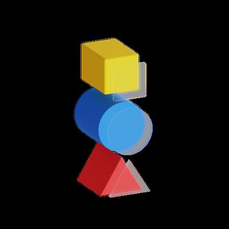 Shapes Glass 3D Illustration