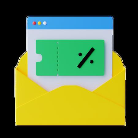 Shopping Offer Mail 3D Illustration