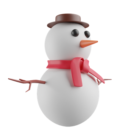 Snowman 3D Illustration