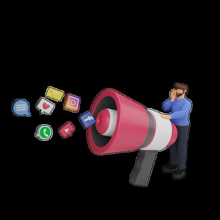 Social media influencer 3D Illustration