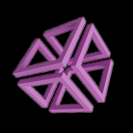 Square Illusion 3D Illustration