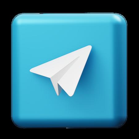 Telegram 3D Illustration