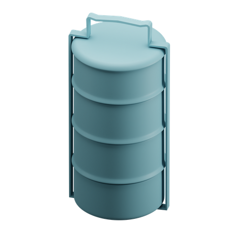Tiffin box 3D Illustration