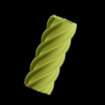 Twirl Cylinder 3D Illustration