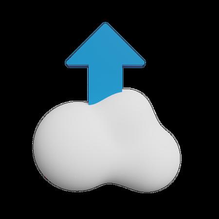 Upload to cloud 3D Illustration
