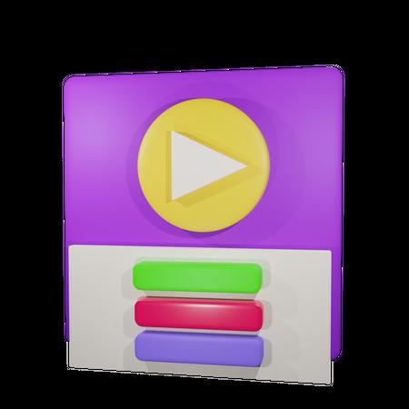 Video Play 3d Illustration 3D Illustration