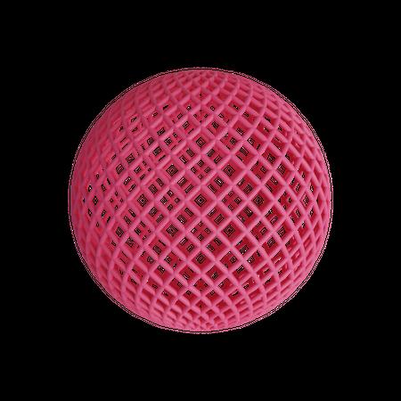 Wireframe sphere 3D Illustration