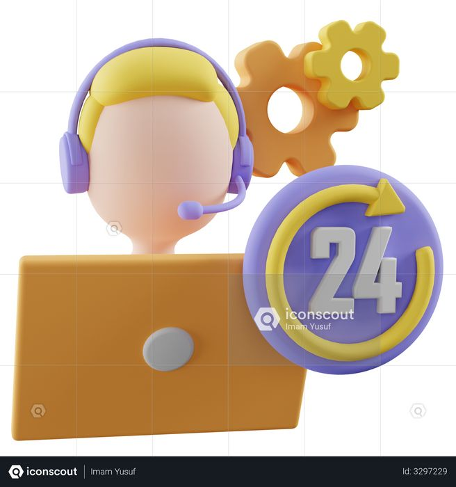 Customer Service 3D Illustration