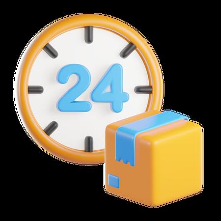 24 Hours Delivery 3D Illustration