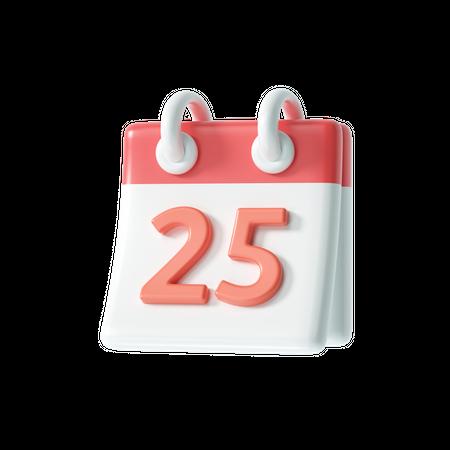 25 December 3D Illustration