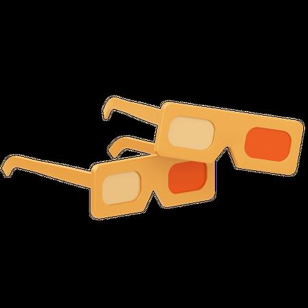 3 D Glasses 3D Illustration