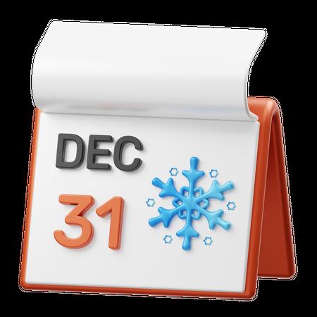 31st December 3D Illustration