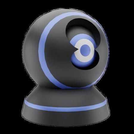 360 Security Camera 3D Illustration