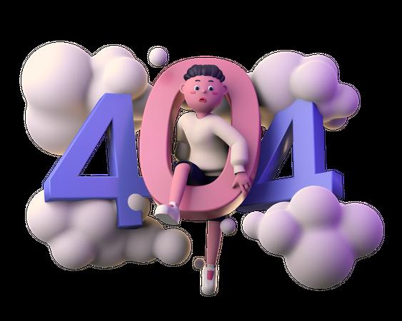 404 3D Illustration