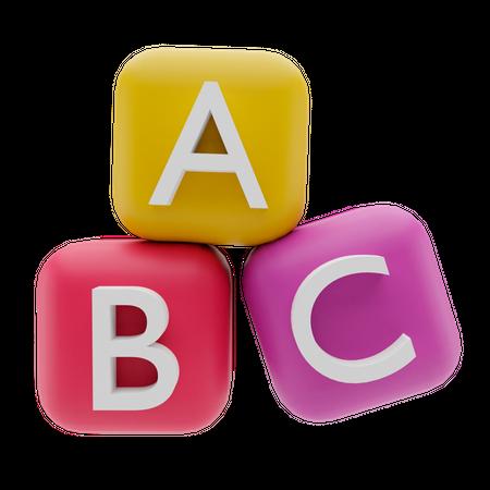 Abc Block 3D Illustration