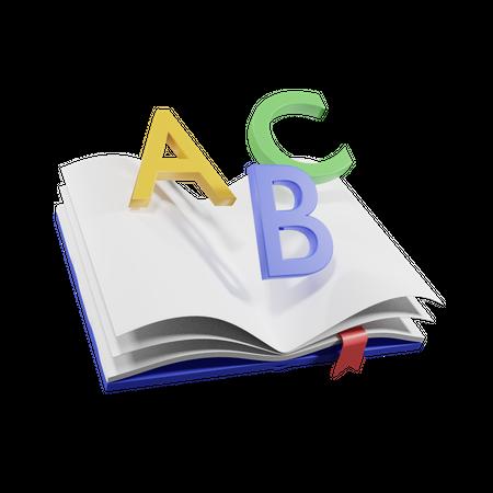 Abc Book 3D Illustration