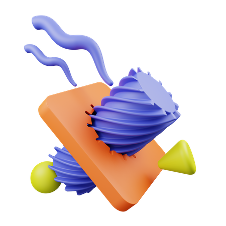 Abstract shape 3D Illustration