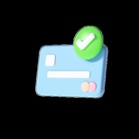 Accept credit card 3D Illustration