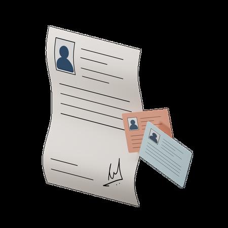 Account Registration Form 3D Illustration