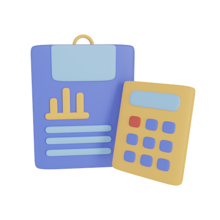 Accounting Report 3D Illustration