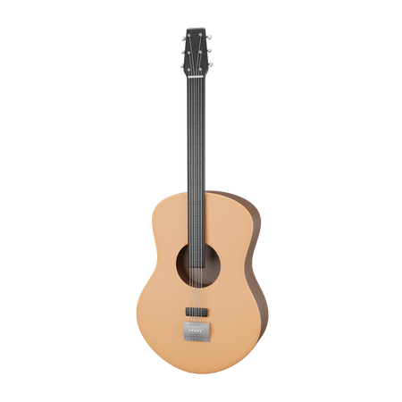 Accoustic Guitar 3D Illustration