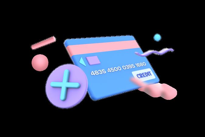 Add Card bank 3D Illustration