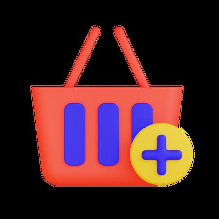 Add To Basket 3D Illustration
