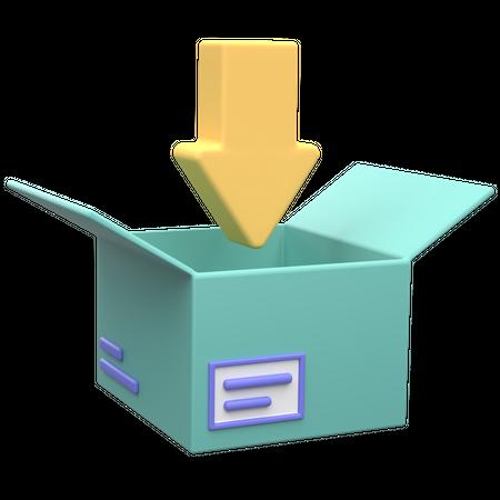 Add To Parcel 3D Illustration