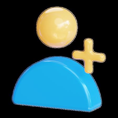Add user 3D Illustration