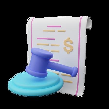 Agreement paper 3D Illustration