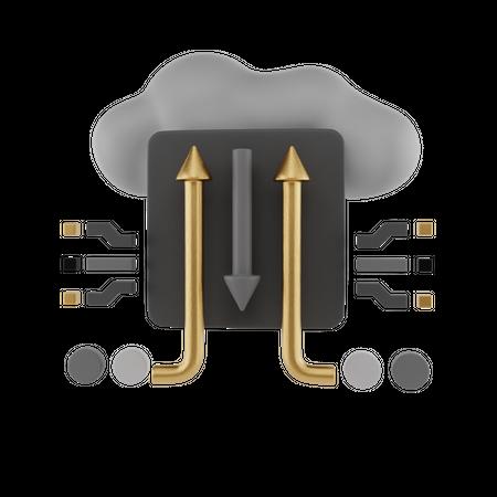Ai Cloud 3D Illustration
