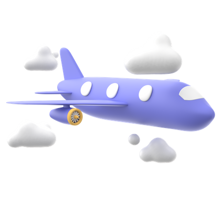 Air Delivery 3D Illustration