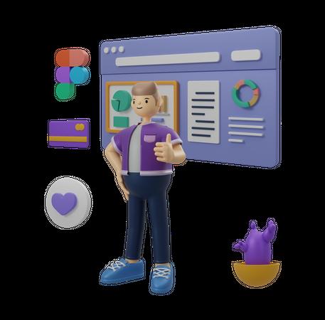 Analytics 3D Illustration