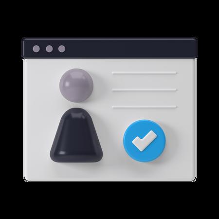 Approved User Profile 3D Illustration