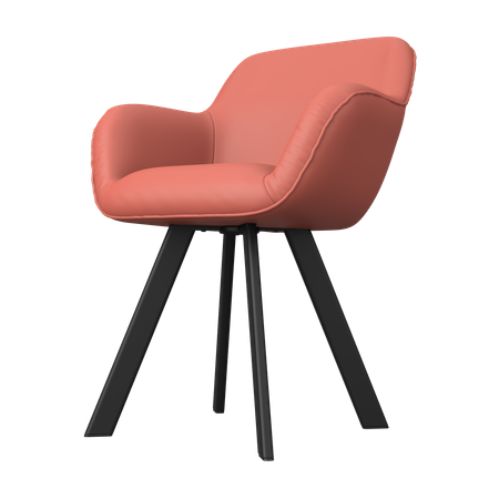 Armchair 3D Illustration