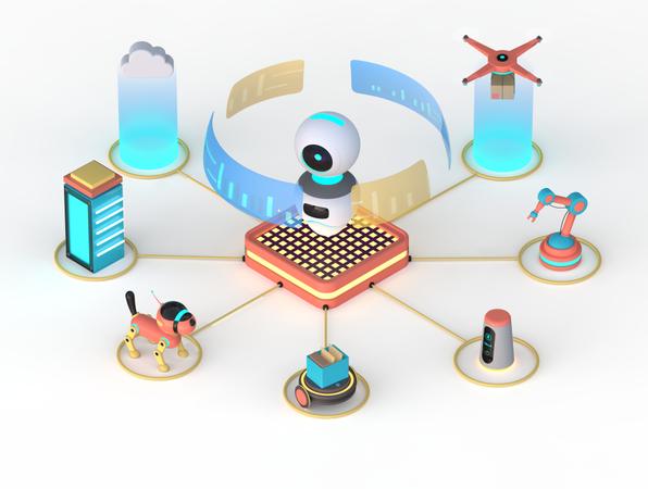 Artificial Intelligence 3D Illustration