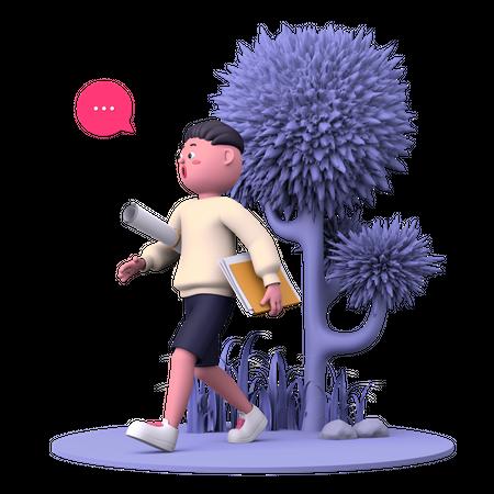 Artist 3D Illustration
